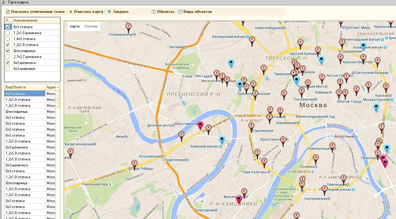 Google maps : вывод точек на карту и режим панорамы
